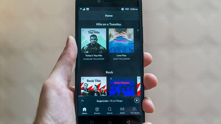 Spotify na smartfonie z Androidem z depositphotos