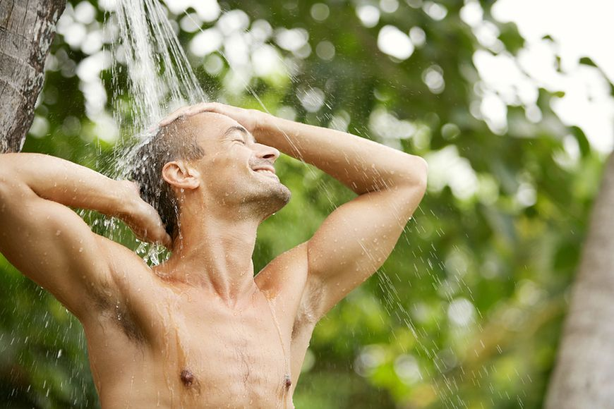 Letni prysznic, nie gorący