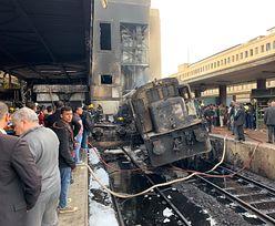 Kair. Eksplozja i pożar na dworcu głównym, jest wielu zabitych i rannych