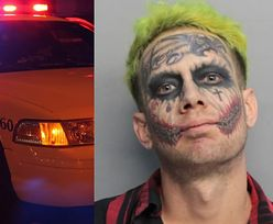 Złapali przestępcę. Nie tylko wyglądem przypominał Jokera