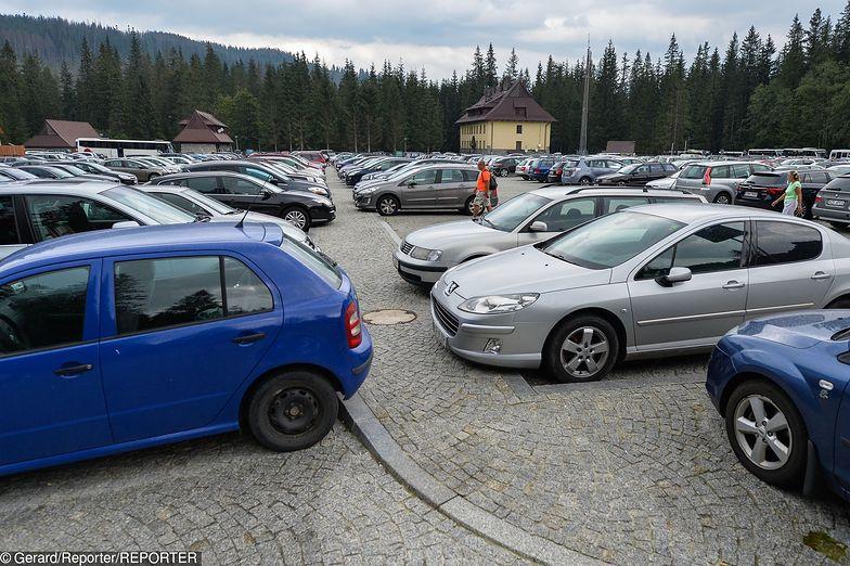 Parking w Zakopanem.