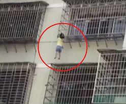 Dramatyczna akcja ratunkowa w Quannan. 5-latka zwisała z 5. piętra