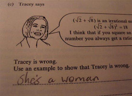 Tracy się myli