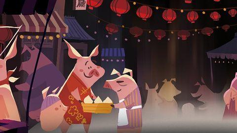Z okazji Nowego Roku Ziemnej Świni na Steamie można kupić emotkę ze świnią...