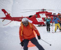 Szwajcaria i Austria. Lawiny na trasach narciarskich. Akcja ratunkowa