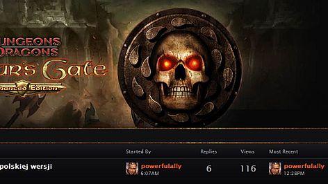 Baldur's Gate: Enhanced Edition będzie po polsku, a gracze mają istotny wpływ na kształt tej gry
