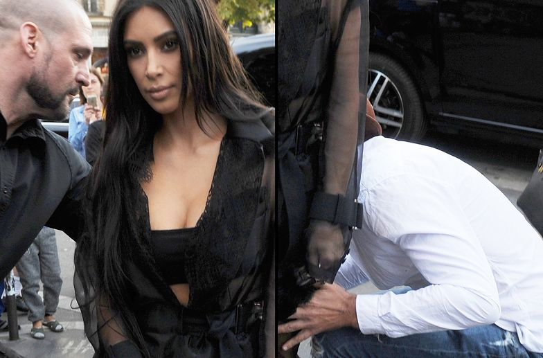 Próbował pocałować Kim Kardashian w pośladki