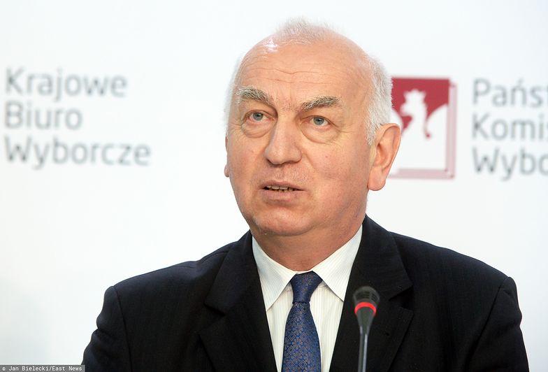 Przewodniczący PKW Wiesław Kozielewicz