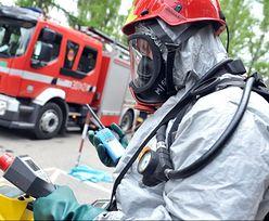 Beczki z chemikaliami porzucone przy A2. Do akcji ruszyła jednostka ratownictwa chemicznego