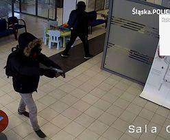 Policja szuka sprawców napadu na bank w Katowicach. Publikuje nagranie i prosi o pomoc