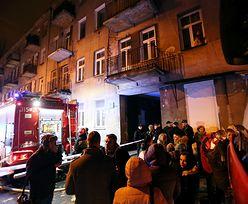 Eksplozja i pożar na warszawskiej Pradze
