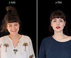 Zobacz, jak zmienia się nasza twarz w ciągu dnia. Fotografie dają do myślenia