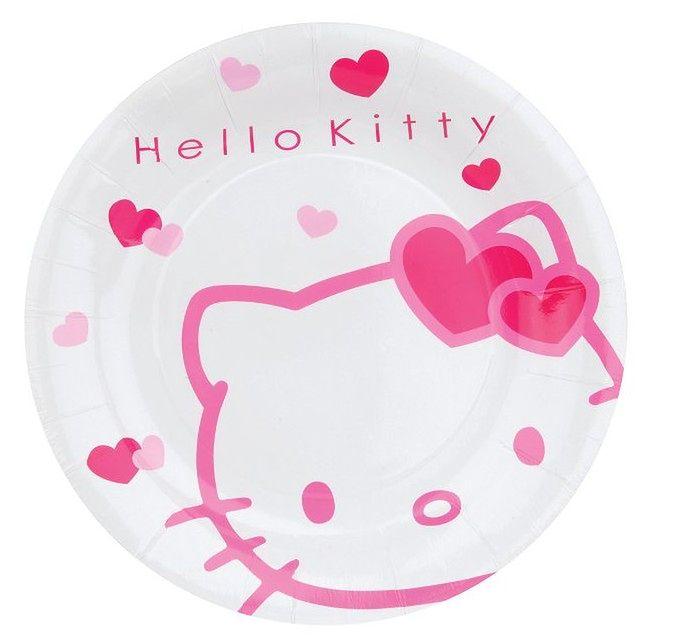 Papierowe talerzyki z Hello Kitty