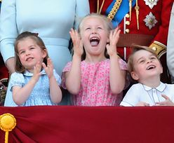 Mała Charlotte pokazała rogi. Dokazywała na urodzinach Królowej Elżbiety