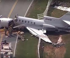 Katastrofa samolotu w USA. Złamał się na dwie części
