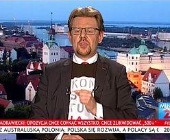"""Awantura w TVP Info. Poseł Nowoczesnej w koszulce z napisem """"Konstytucja"""""""