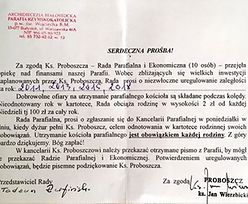 Wezwanie z parafii: 400 zł do zapłaty. Archidiecezja Białostocka wyjaśnia sprawę pisma