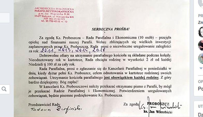 """""""Karna składka"""" obliczana jest na podstawie liczby niedziel mnożonych przez 2 zł"""
