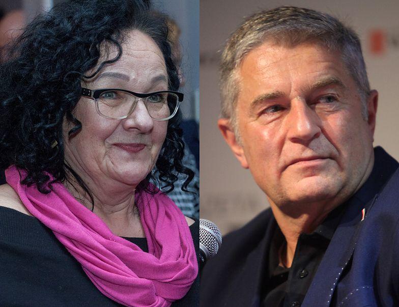 Anna Morawiecka, córka Kornela Morawieckiego i Władysław Frasyniuk, działacz opozycji z czasów PRL