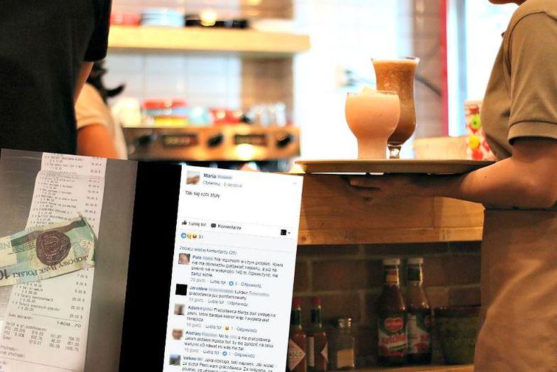 Zdjęcie rachunku i napiwku wywołało burzę w sieci