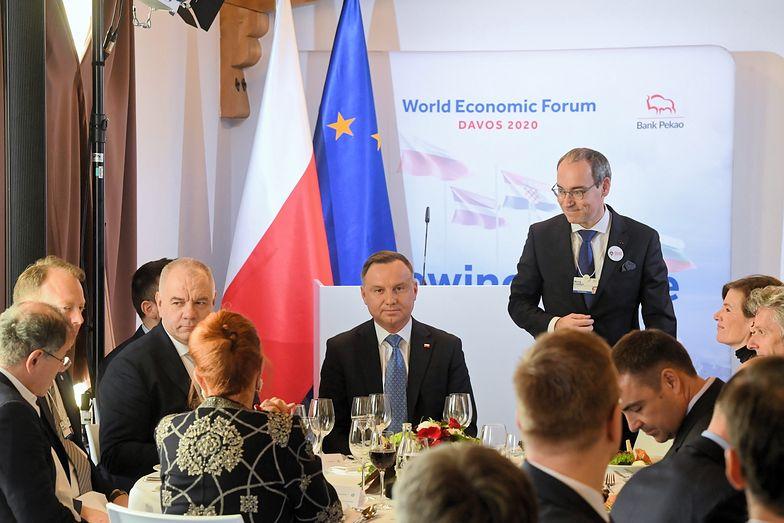 Światowe Forum Ekonomiczne Polska rozpoczyna od wystąpienia prezydenta