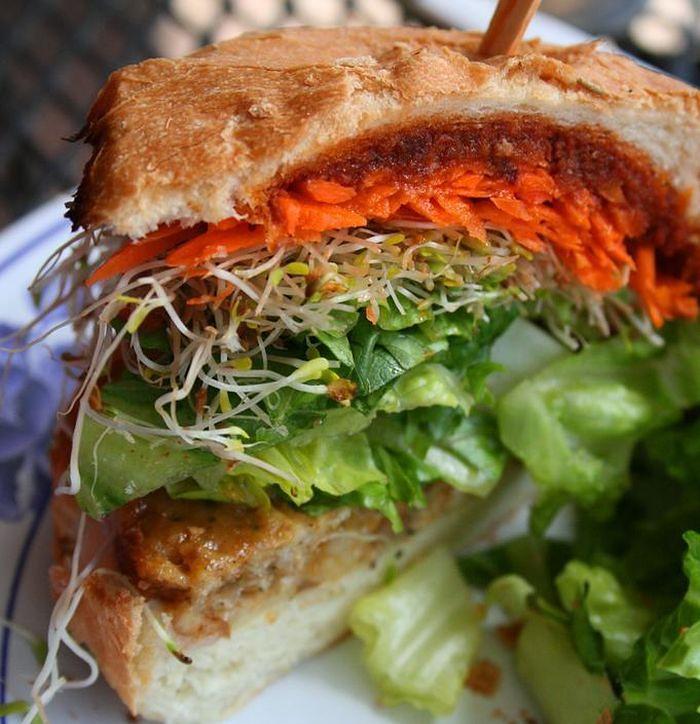 Dieta wegetariańska - burger