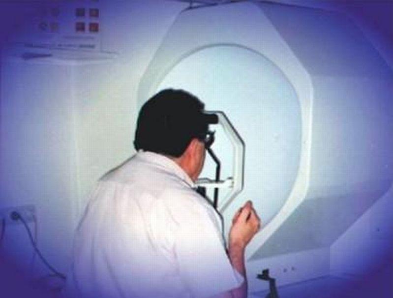Przebieg badania pola widzenia