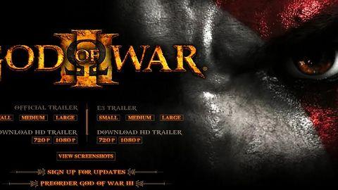 Ruszyła oficjalna strona God of War III