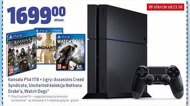 [Aktualizacja] Biedronka znowu to zrobiła - świetna oferta na PlayStation 4 z dyskiem 1TB i pakietem trzech gier