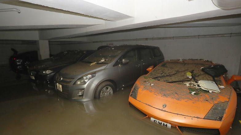 Lamborghini zniszczone podczas tajfunu