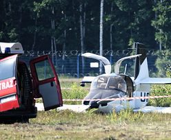 Katastrofa awionetki na lotnisku Jasionka w Rzeszowie. Trzy osoby są ranne