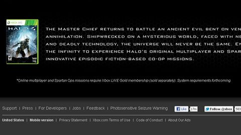 "Skoro Halo 4 wychodzi na Xboksa 360, to po co mu ""system requirements""?"