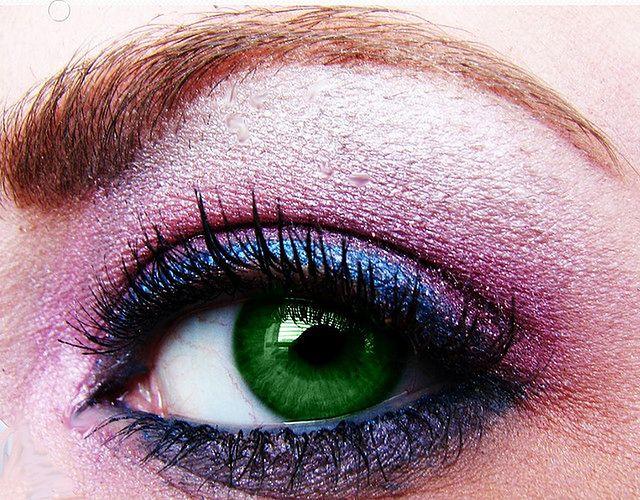 Makijaż oczu zielonych