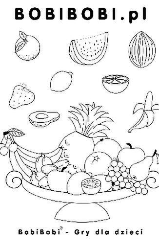 Smaczne owoce - kolorowanka