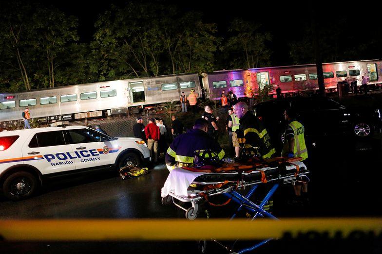 Pociąg pasażerski wykoleił się w Nowym Jorku. Są ranni