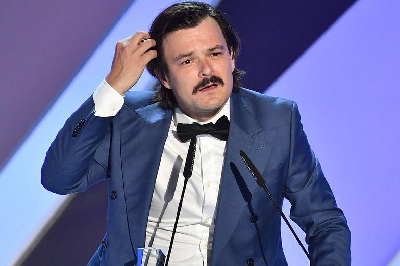 Dawid Ogrodnik na gali zamknięcia festiwalu w Gdyni.