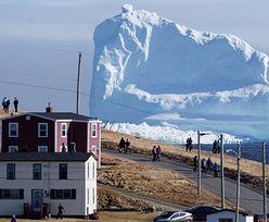 Góry lodowe płynące obok miasteczka. Te zdjęcia są niesamowite