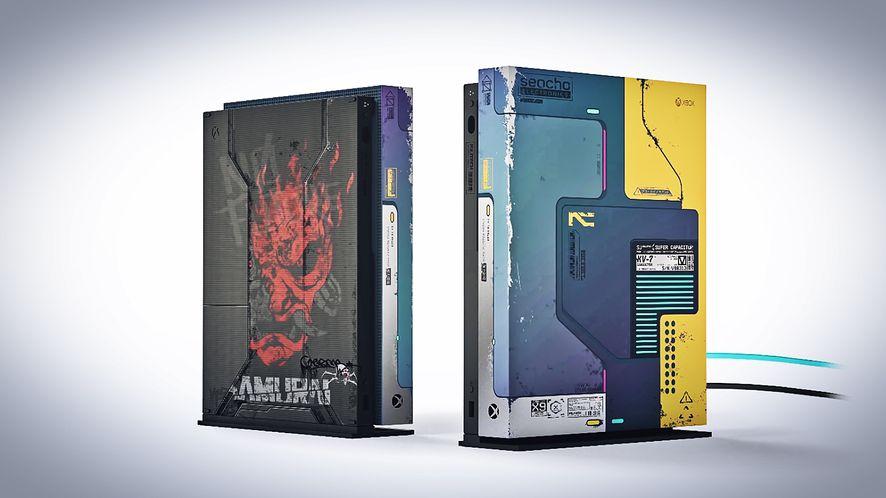 Cyberpunk 2077. Twórcy pokazują z bliska Xboxa i model pojazdu z gry