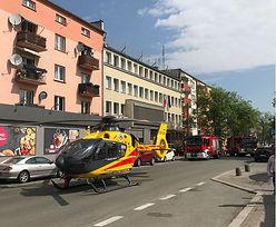 Zamiast karetki wysłali helikopter. Chwilę później maszyna zepsuła się w centrum miasta