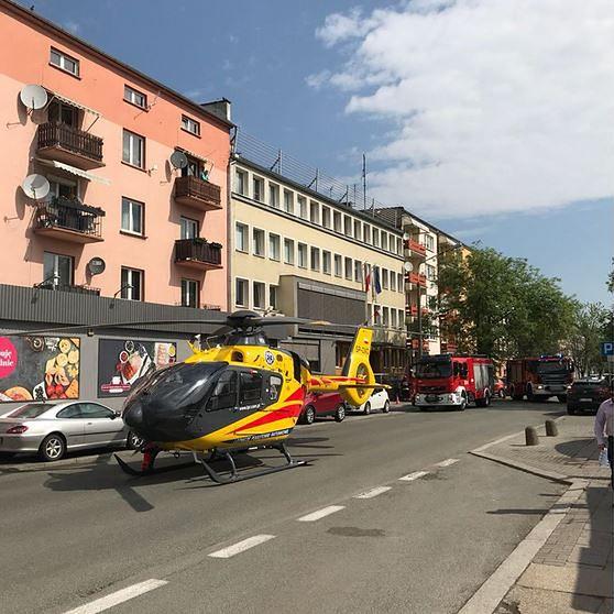 Śmigłowiec LPR zablokował centrum Opola