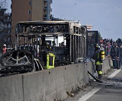 Koszmar we Włoszech. Porwał autobus z dziećmi i go podpalił