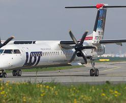 Awaryjne lądowanie na lotnisku Chopina. Bombardier zawrócił w drodze do Krakowa