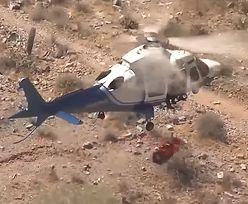 Śmigłowiec przyleciał po ranną alpinistkę. Załoga zgotowała jej koszmar