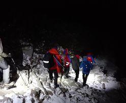 Nocna akcja ratowników na Babiej Górze. Parze studentów padły latarki