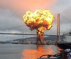 Portem wstrząsnął gigantyczny wybuch na statku. Wiele ofiar