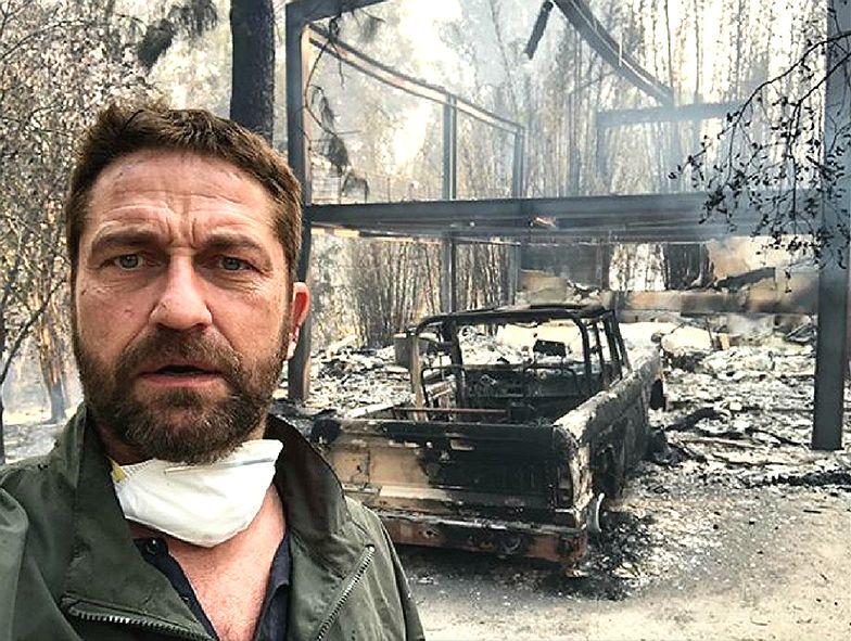 Gerard Butler pokazał swój spalony dom w Malibu. Rośnie liczba ofiar w Kalifornii