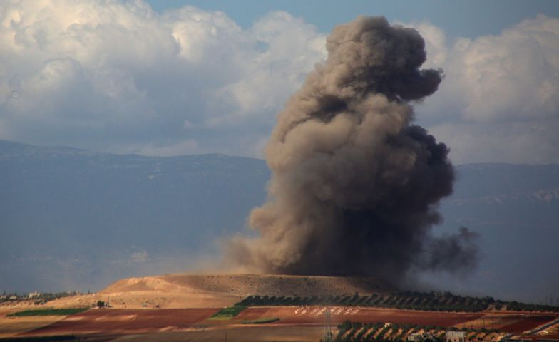 Atak w prowincji Idlib (zdjęcie archiwalne).