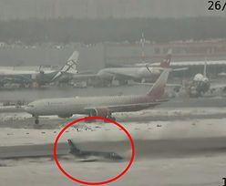 Samolot ląduje na oblodzonym pasie. Przerażające nagranie z Moskwy