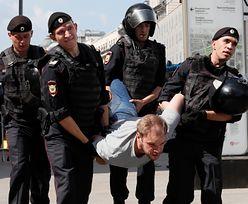 Moskwa. Policja zatrzymała ponad 500 osób, które chciały uczestniczyć w wiecu opozycji