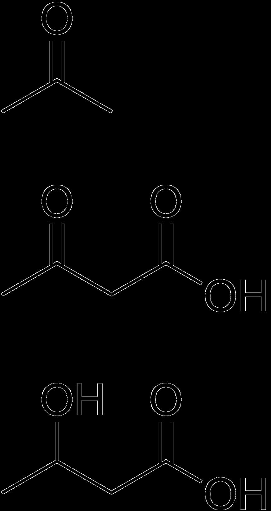 Wzory związków ketonowych